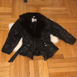 Andrew Marc Genuine Leather Jacket 80s Style